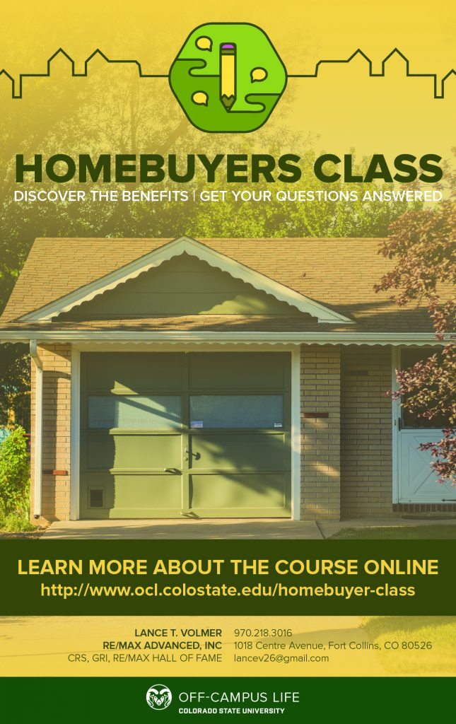 An advertisement for the Homebuyer's Class