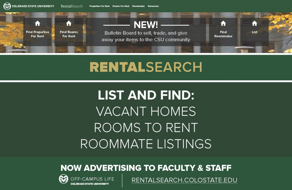 An ad for the rentalsearch website that talks about its functionality