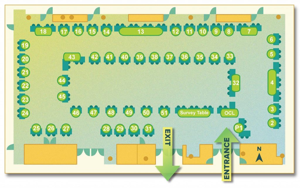 A booth map of the housing fair